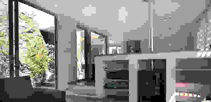 Casa en Pendiente 2 Pasillos, vestíbulos y escaleras modernos de Marcelo Roura Arquitectos Moderno Concreto