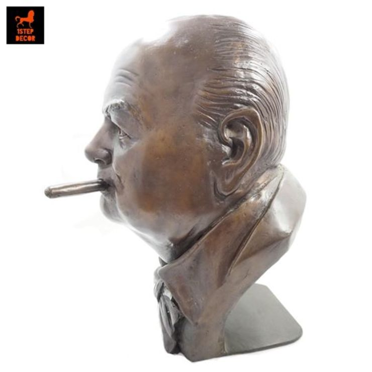 รูปปั้นทองเหลืองวินสตัน เชอร์ชิลครึ่งท่อน (Burst of Winston Churchill) โดย 1STEP DECOR