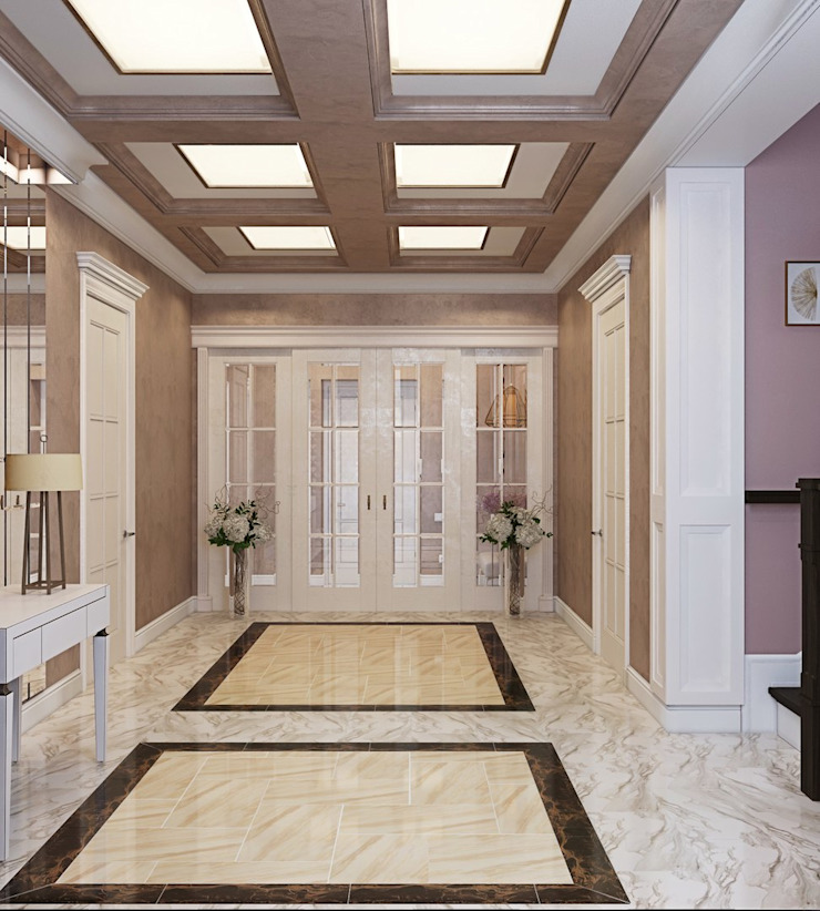 ДизайнМастер Classic style corridor, hallway and stairs Beige