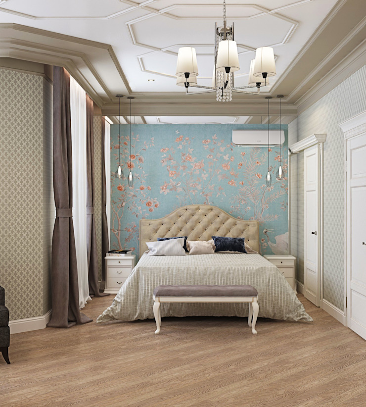 ДизайнМастер Eclectic style bedroom Brown