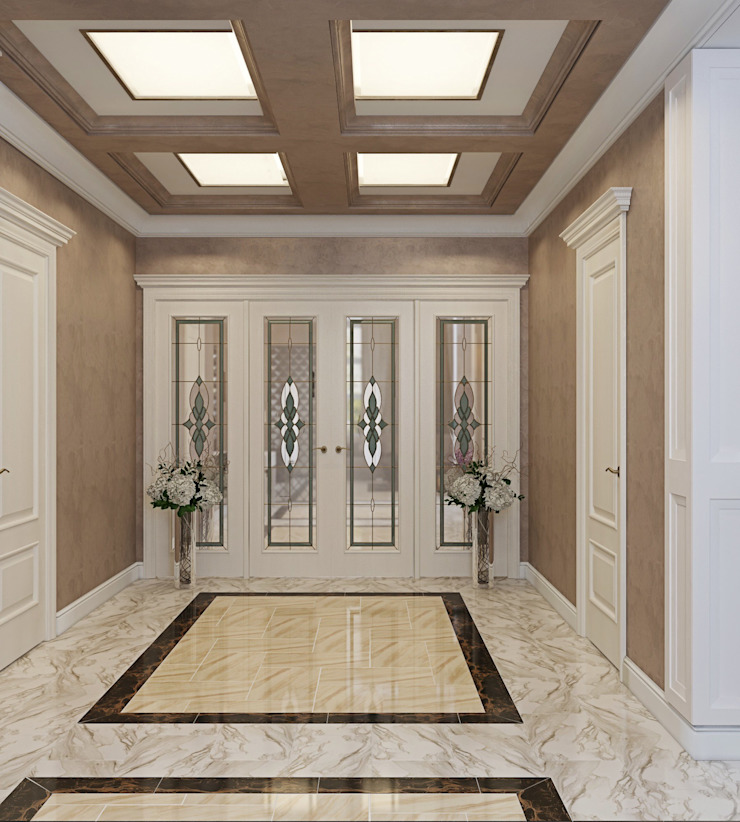 ДизайнМастер Classic style corridor, hallway and stairs Brown