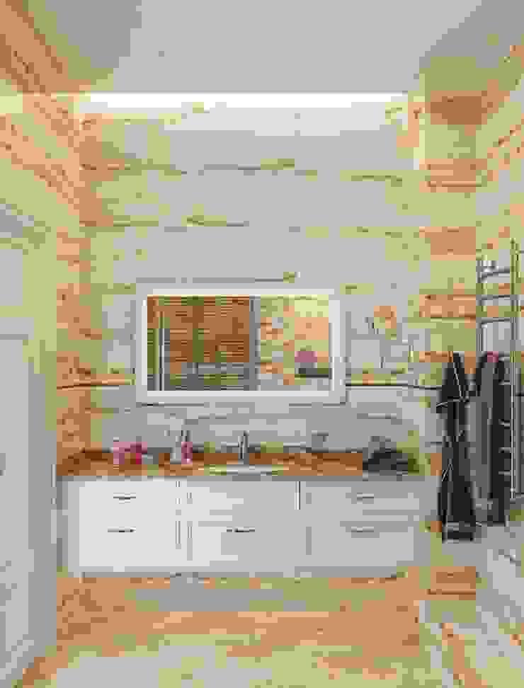 ДизайнМастер Classic style bathroom Brown