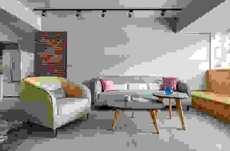 磨設計 Eclectic style living room