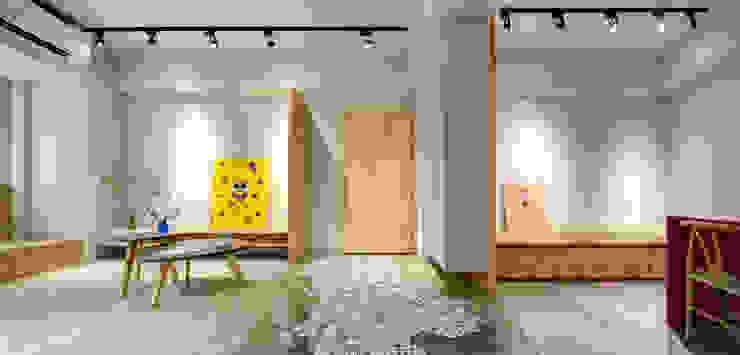 二手屋的小清新旅程 隨意取材風玄關、階梯與走廊 根據 磨設計 隨意取材風