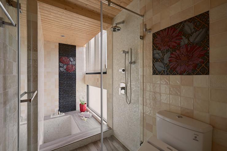 Eclectic style bathroom by 磨設計 Eclectic Tiles