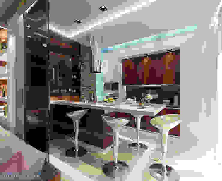 Kitchen by Студия интерьера Дениса Серова, Minimalist