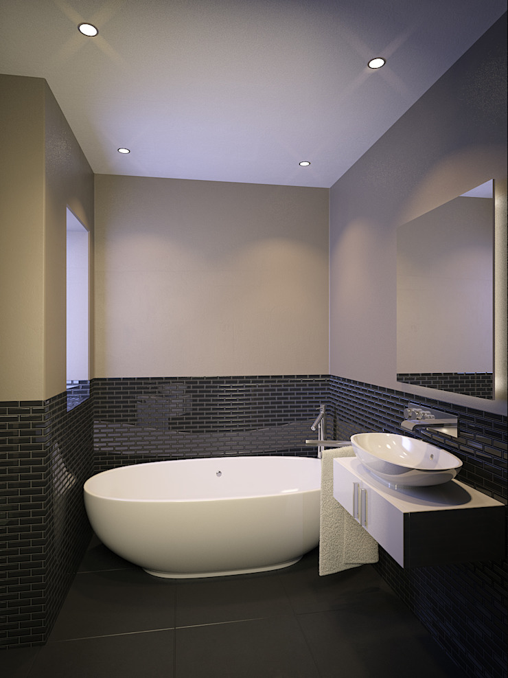 Residential French Lane Modern bathroom by HEID Interior Design Modern Tiles
