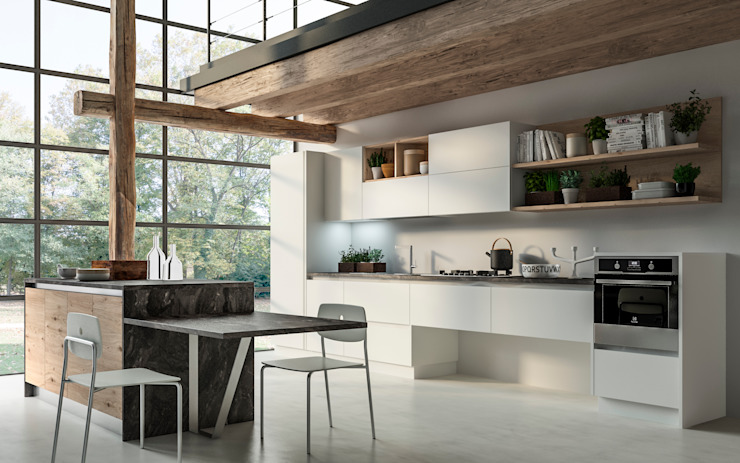 Eclectic style kitchen by Atra Cucine Eclectic