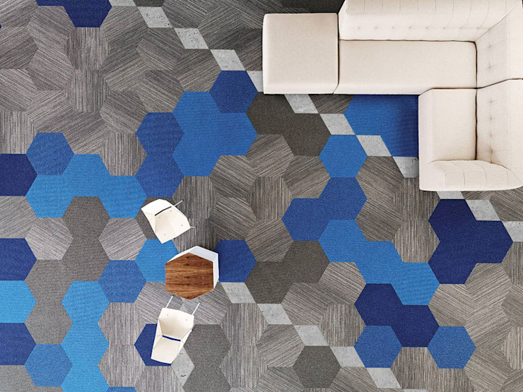 Amazing Design with Carpet Tiles от Industasia Лофт