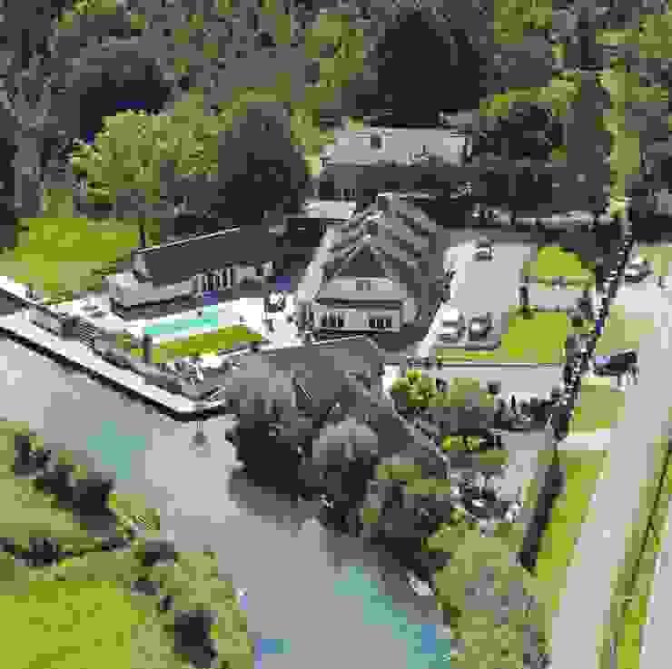 Landelijke woning met zwembad Landelijke zwembaden van Brand I BBA Architecten Landelijk