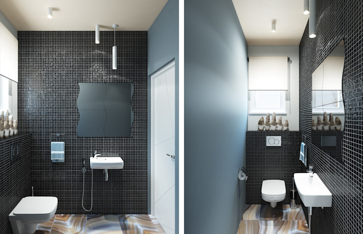 Center of interior design Eclectic style bathrooms