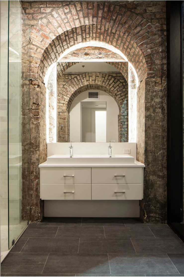 Natchez Street Mixed Use Structure, New Orleans Eclectic style bathroom by studioWTA Eclectic