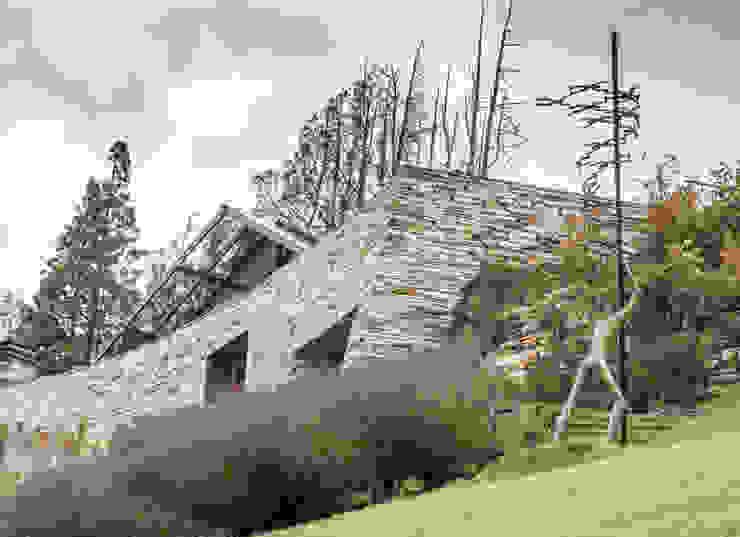 Vivienda Unifamiliar: Jardines de estilo  por Sidoni&Asoc,Moderno