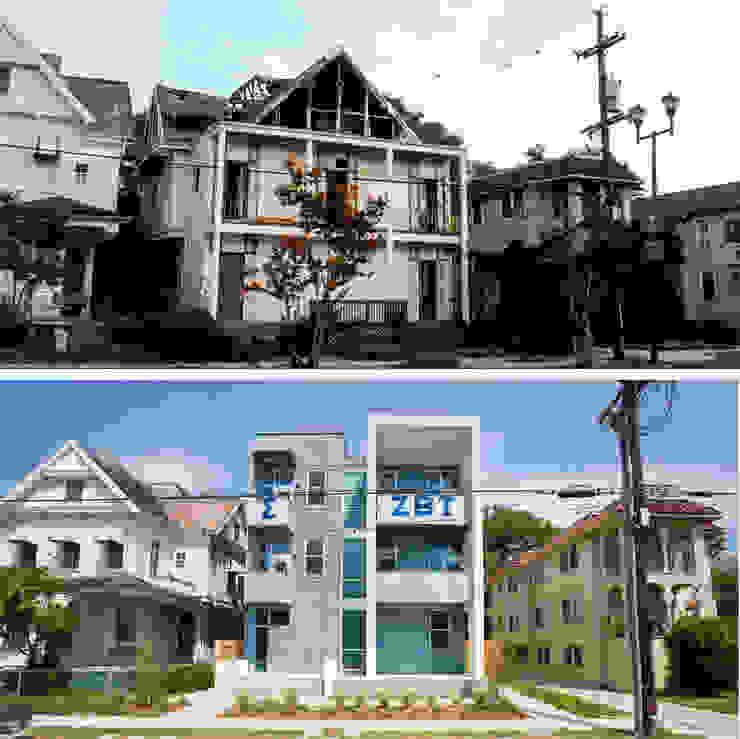 Zeta Beta Tau Fraternity House Reconstruction Modern Houses by studioWTA Modern