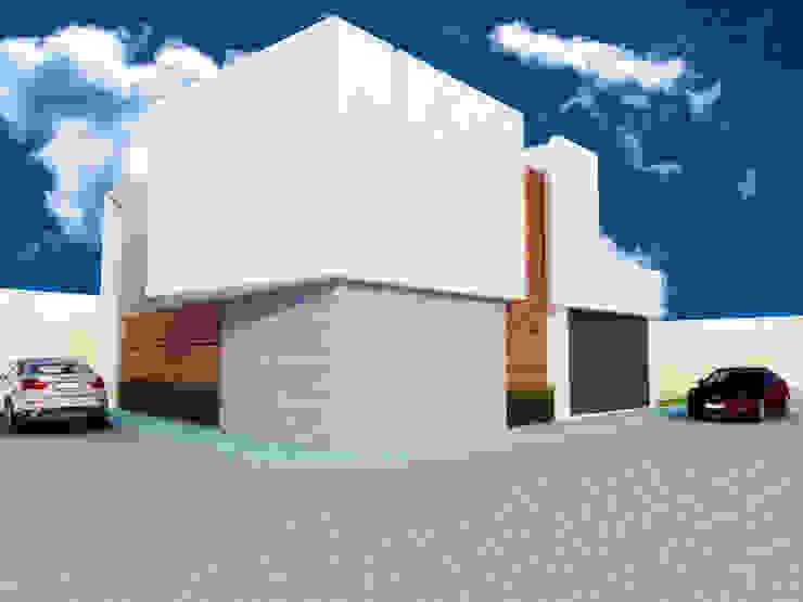 FACHADA ESQUINA Casas minimalistas de DLR ARQUITECTURA/ DLR DISEÑO EN MADERA Minimalista