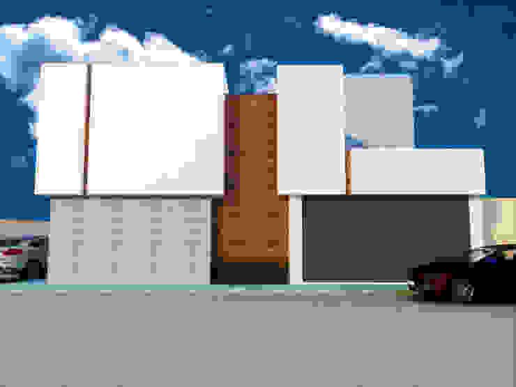 FACHADA PONIENTE Casas minimalistas de DLR ARQUITECTURA/ DLR DISEÑO EN MADERA Minimalista