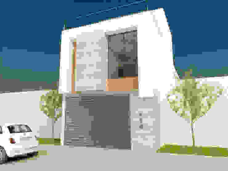 FACHADA PRICIPAL Casas minimalistas de DLR ARQUITECTURA/ DLR DISEÑO EN MADERA Minimalista