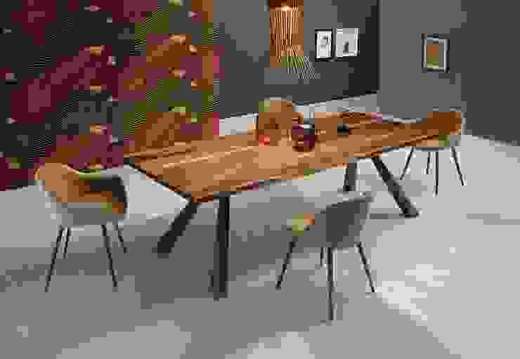 Mesas de design com tampo madeira natural Design tables with top in natural wood SUEZ http://intense-mobiliario.com/pt/mesas-de-jantar/11182-mesa-de-jantar-suez-mt.html por Intense mobiliário e interiores; Moderno