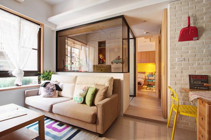 客廳 Scandinavian style living room by 一葉藍朵設計家飾所 A Lentil Design Scandinavian