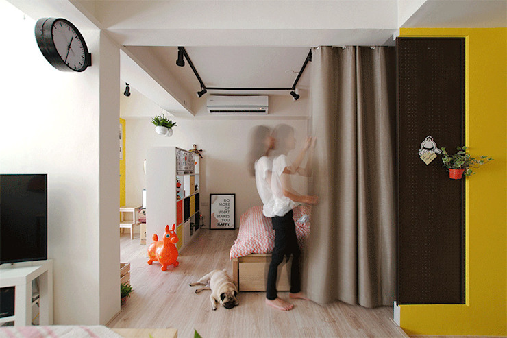 臥室 斯堪的納維亞風格的走廊,走廊和樓梯 根據 一葉藍朵設計家飾所 A Lentil Design 北歐風