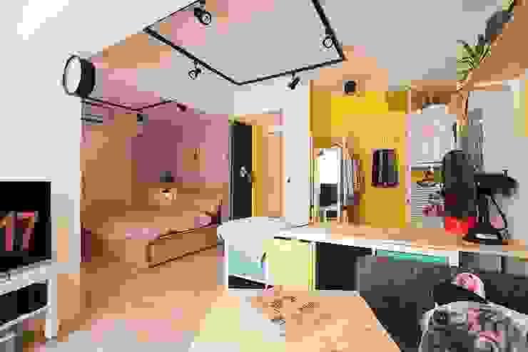 臥室 根據 一葉藍朵設計家飾所 A Lentil Design 北歐風