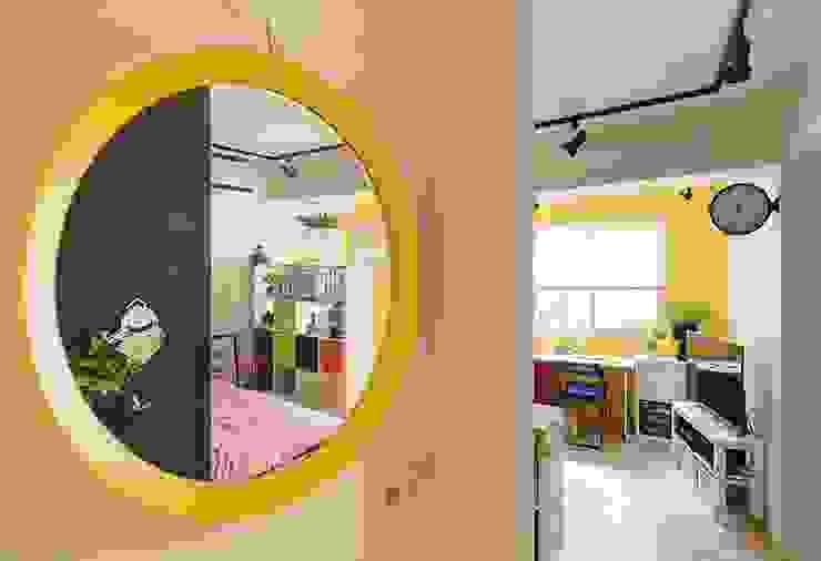 玄關 Scandinavian style corridor, hallway& stairs by 一葉藍朵設計家飾所 A Lentil Design Scandinavian