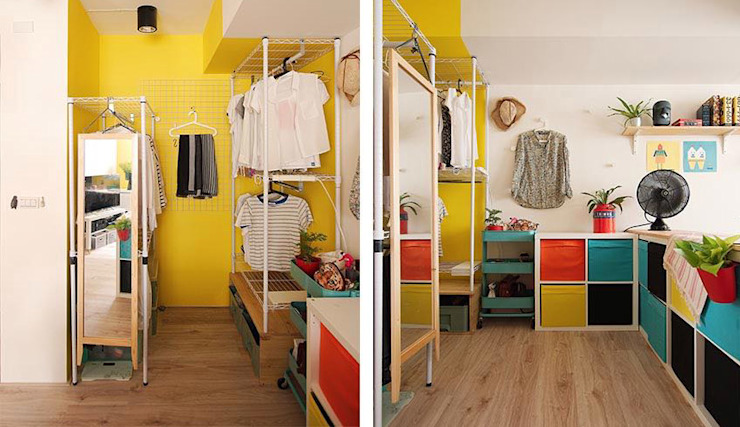 更衣室:  更衣室 by 一葉藍朵設計家飾所 A Lentil Design