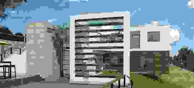 FACHADA PRINCIPAL Casas modernas de Arquitectura Libre Moderno