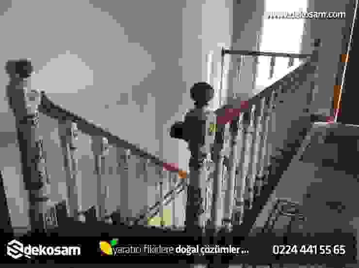 Rustik Merdiven Dekosam Rustik Ahşap Ahşap rengi