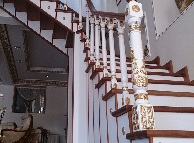 Ahşap Döner Merdiven Dekosam Rustik Ahşap Ahşap rengi