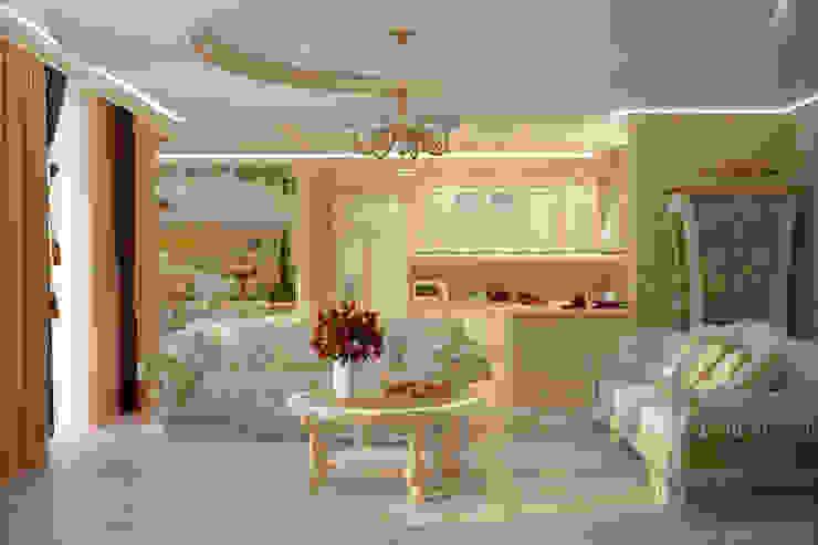 مطبخ تنفيذ Студия интерьерного дизайна happy.design,
