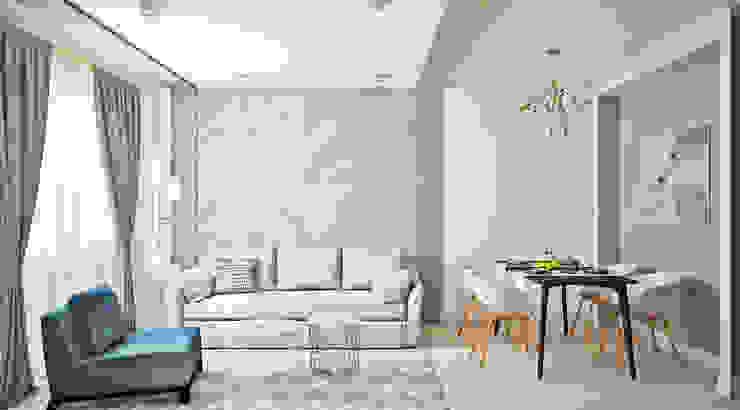 Phòng khách phong cách Bắc Âu bởi Ирина Рожкова - частный дизайнер интерьера Bắc Âu