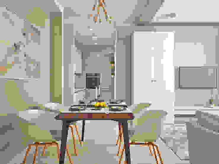 Phòng ăn phong cách tối giản bởi Ирина Рожкова - частный дизайнер интерьера Tối giản