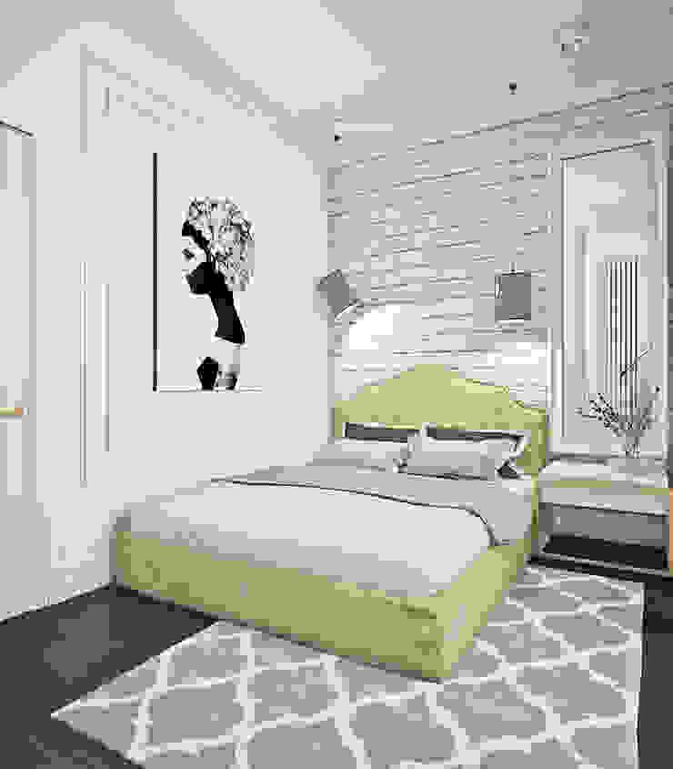 Eclectic style bedroom by Ирина Рожкова - частный дизайнер интерьера Eclectic Bricks