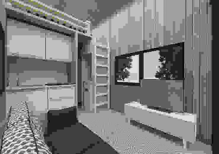 PRATIKIZ MIMARLIK/ ARCHITECTURE Гостиная в стиле модерн
