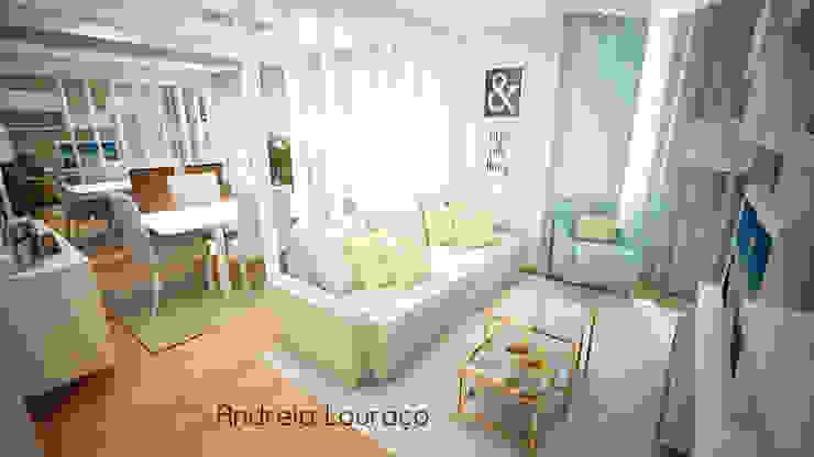 """Projecto de Decoração """"COLOR MIRRORS"""" Salas de estar modernas por Andreia Louraço - Designer de Interiores (Contacto: atelier.andreialouraco@gmail.com) Moderno"""