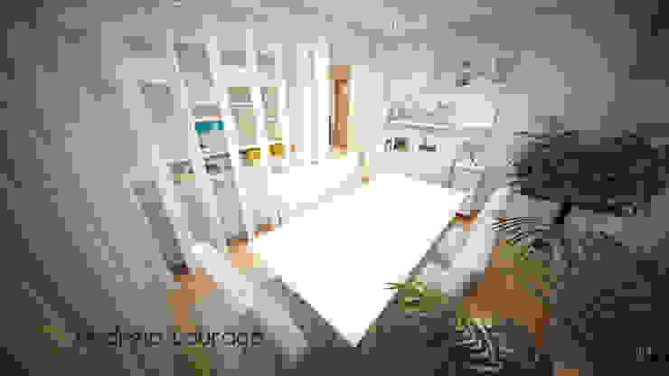 """Projecto de Decoração """"COLOR MIRRORS"""" Salas de jantar modernas por Andreia Louraço - Designer de Interiores (Contacto: atelier.andreialouraco@gmail.com) Moderno"""