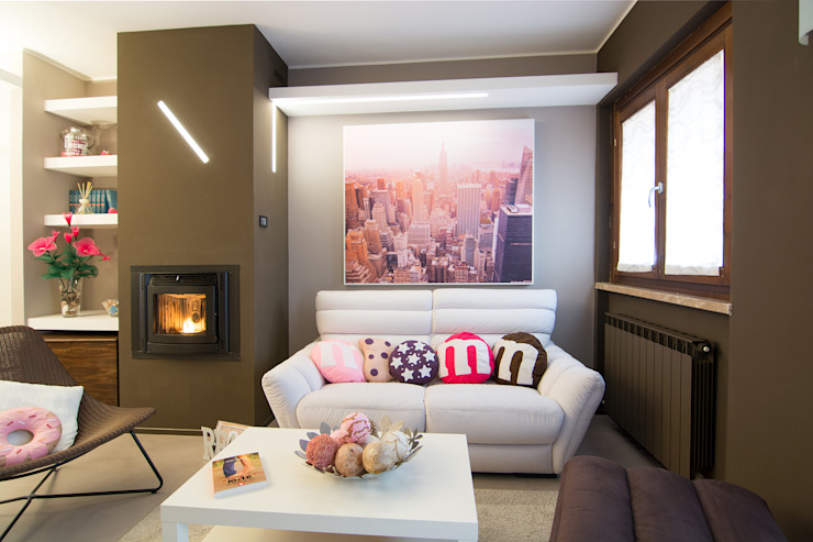 Salas multimedia modernas de Rachele Biancalani Studio Moderno