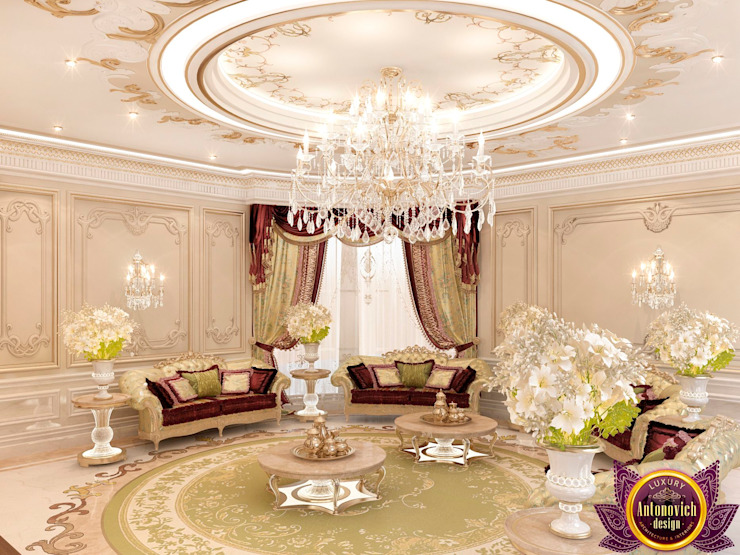 Hospitality interiors of Katrina Antonovich Classic style corridor, hallway and stairs by Luxury Antonovich Design Classic