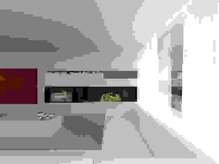 Столовая комната в средиземноморском стиле от MIDE architetti Средиземноморский Железобетон