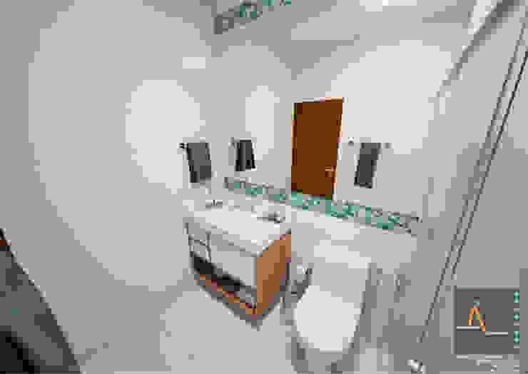 Salle de bain moderne par Ao Cubo Arquitetura e Interiores Moderne