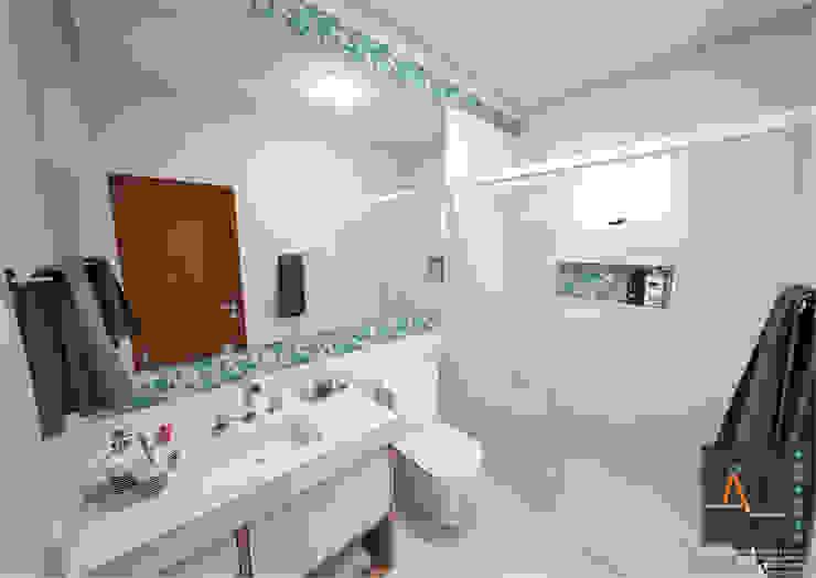 Baños modernos de Ao Cubo Arquitetura e Interiores Moderno