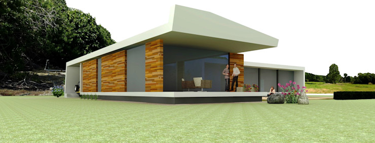Moradia Unifamiliar Casas modernas por josé abílio arquitecto's Moderno Betão