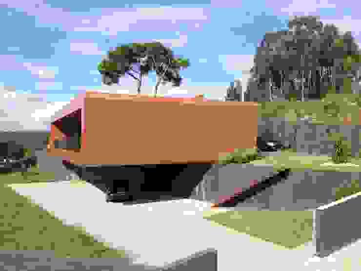 Moradia Unifamiliar Casas modernas por josé abílio arquitecto's Moderno Betão armado
