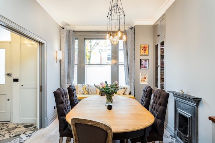 Abbeville Road:  Dining room by Orchestrate Design and Build Ltd.,
