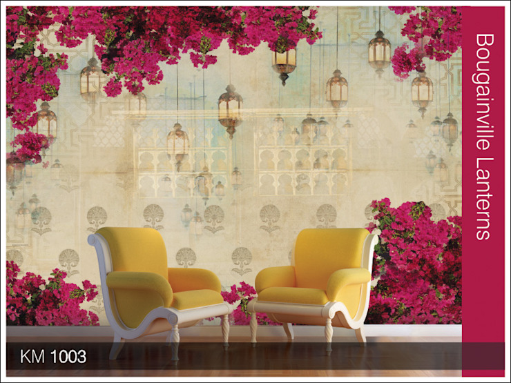 Krsna mehta designer wallcoverings : classic  by Wall Art Private Limited,Classic Silver/Gold
