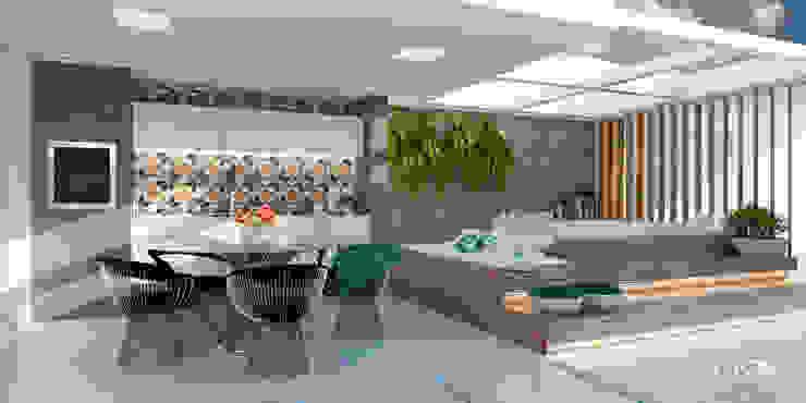 Living Casa 4 Arquitetura e Soluções Varandas, alpendres e terraços tropicais