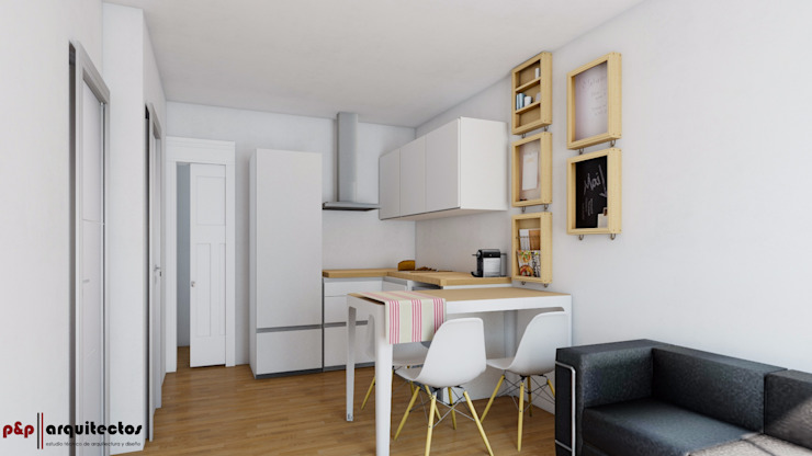 Modern kitchen by P&P arquitectos Modern
