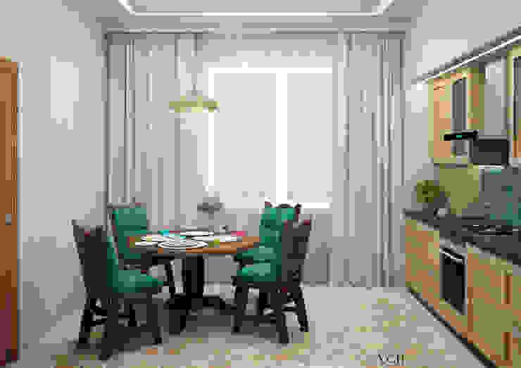 Your Comfortable home Кухня Інженерне дерево Бірюза