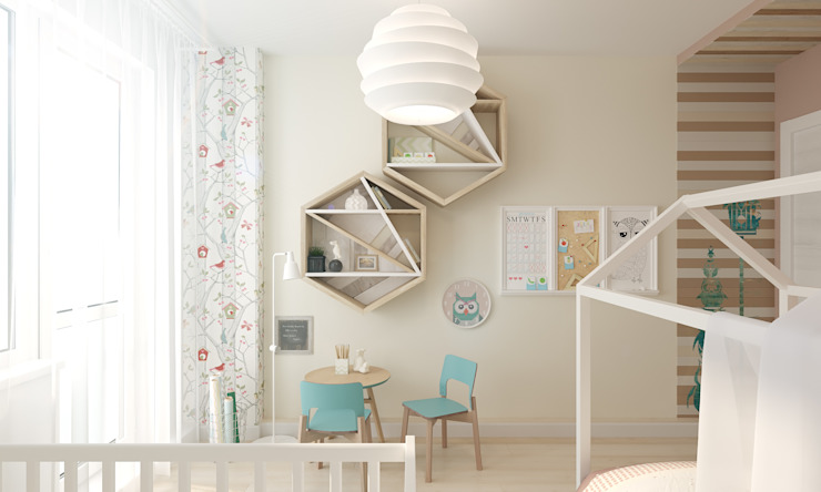 Детская комната для двух детей 10, 4 кв.м. : Детские комнаты в . Автор – A R C H I T I Z M,
